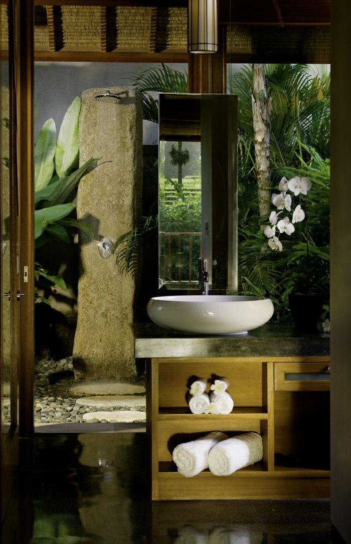 Comment aménager la salle de bain exotique - 40 idées. | salle de ...