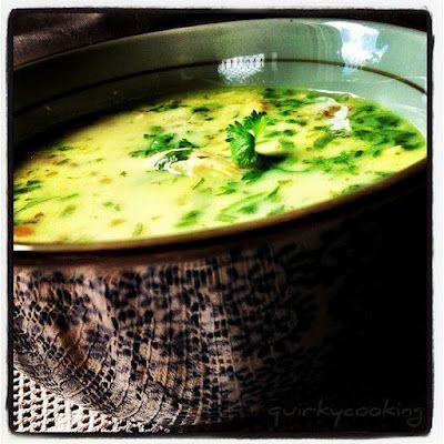 Quirky coconut lemon chicken soup