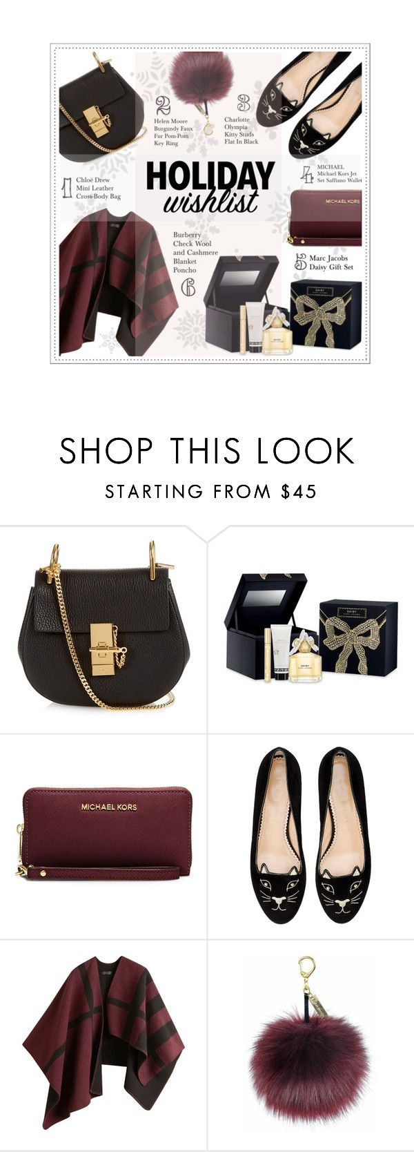 """My Wishlist"" by fran-tasy ❤ liked on Polyvore featuring moda, Chloé, Marc Jacobs, MICHAEL Michael Kors, Charlotte Olympia, Burberry, contestentry y 2015wishlist"