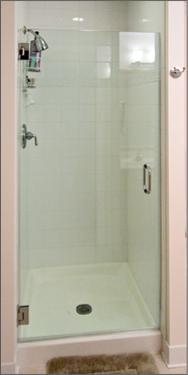 Single Frameless Shower Doors Dulles Glass And Mirror Shower