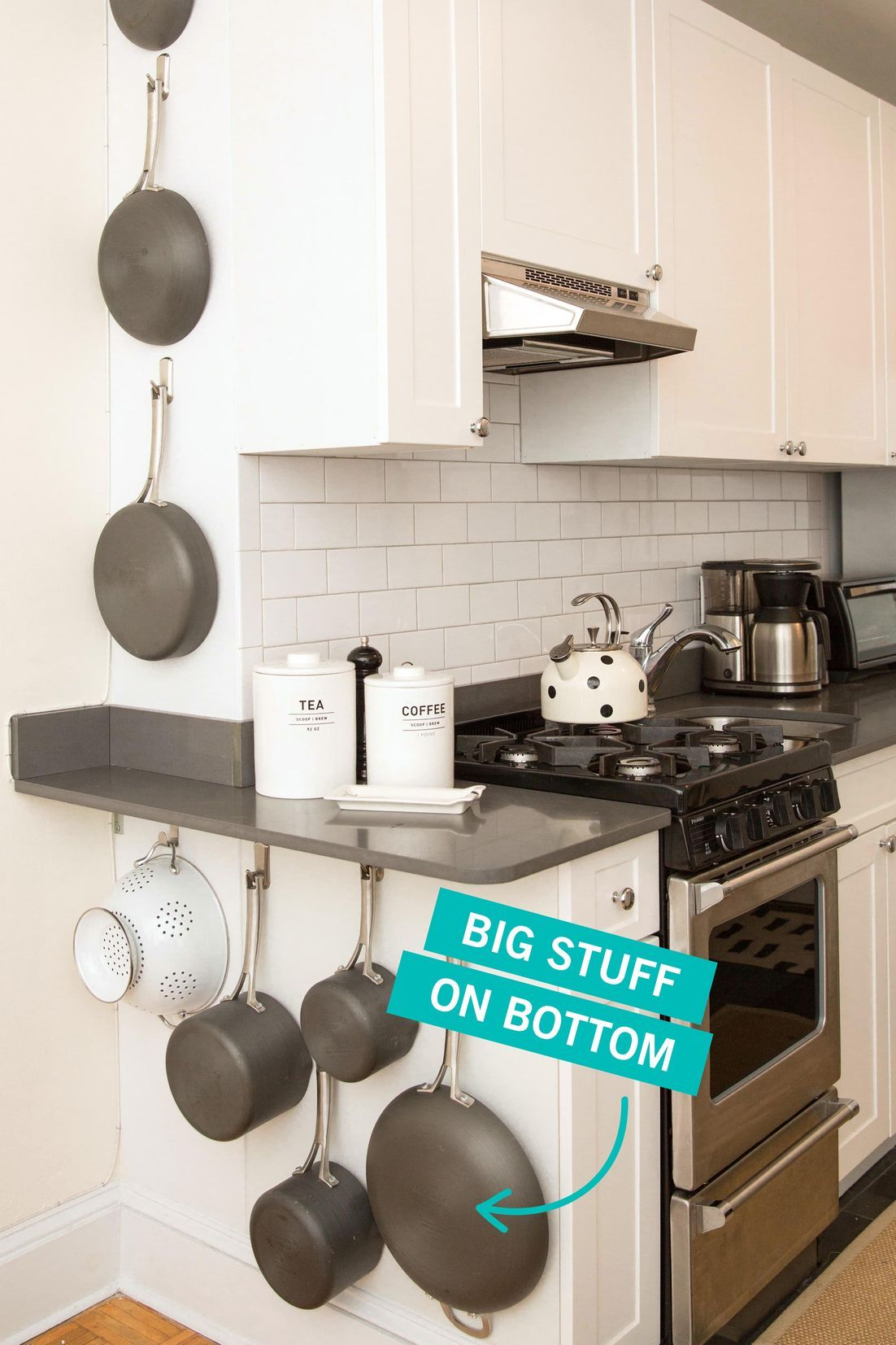 20 Sneaky Storage Tricks for a Tiny Kitchen