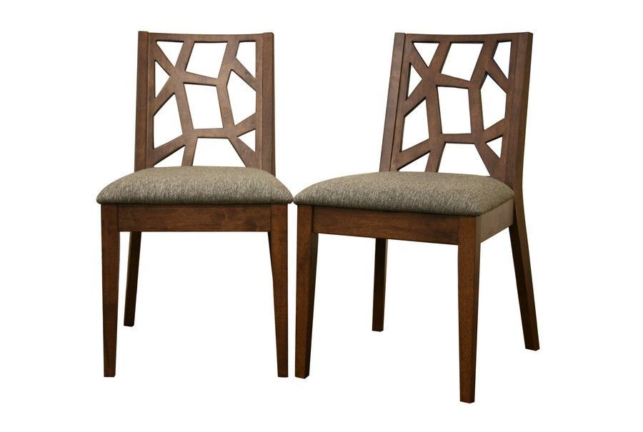Baxton Studio Jenifer Modern Dining Chair In Set Of 2 Dining Chairs Wood Dining Chairs Modern Wood Dining Chair
