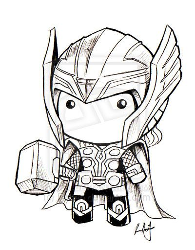 Chibi Thor Art For Amigurumi Inspiration Superhéroes Thor Para