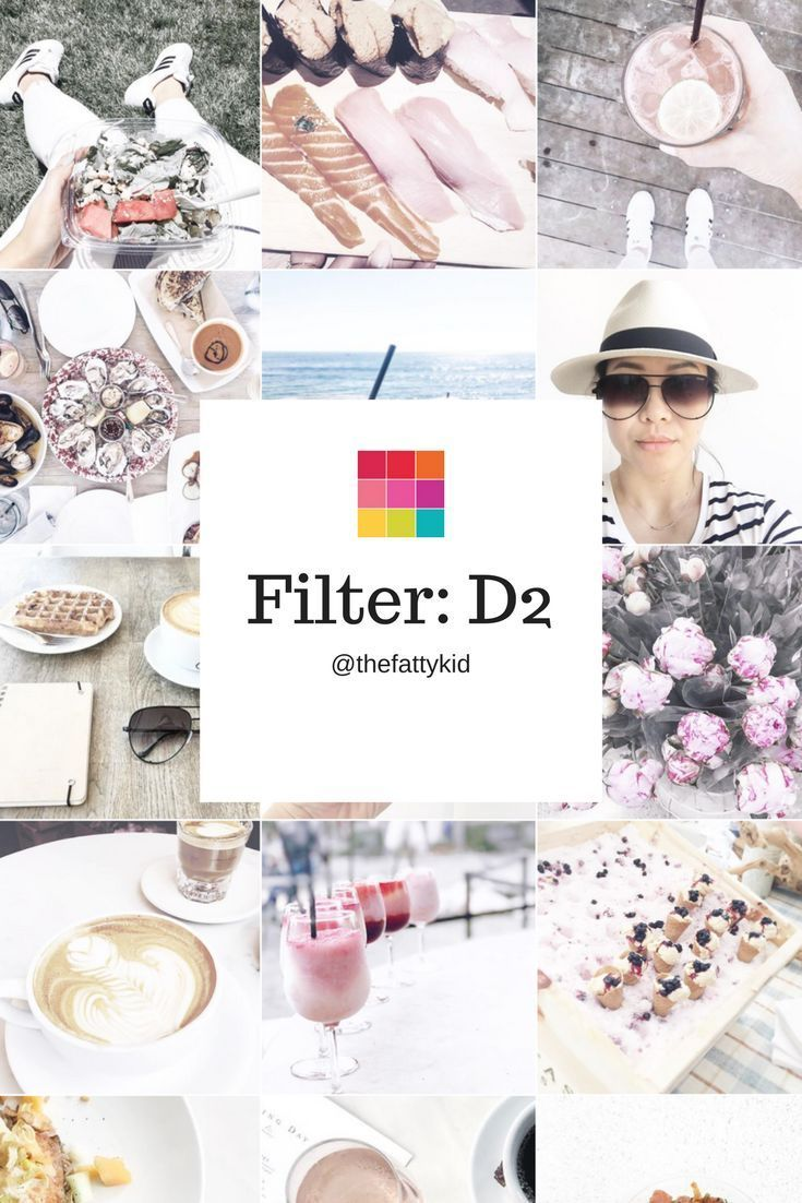 Soft white Instagram theme idea using filter D2 from the