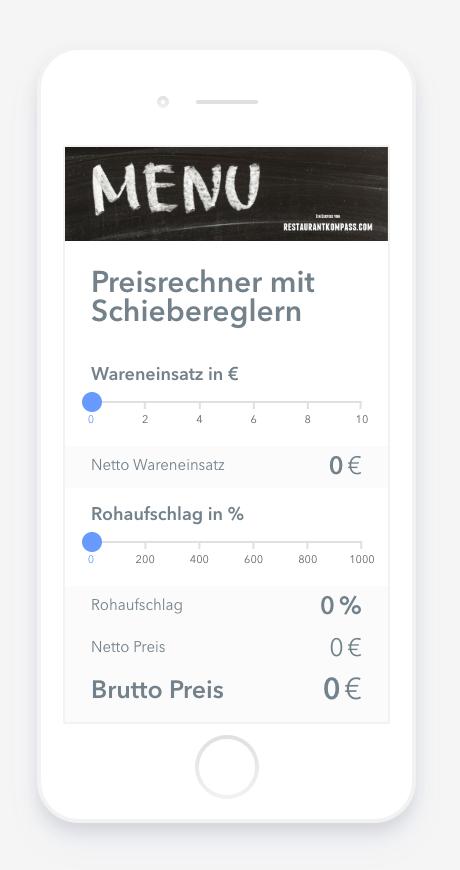 Preisrechner App Fur Die Gastronomie Gastronomie Restaurant Eroffnen Bar Eroffnen