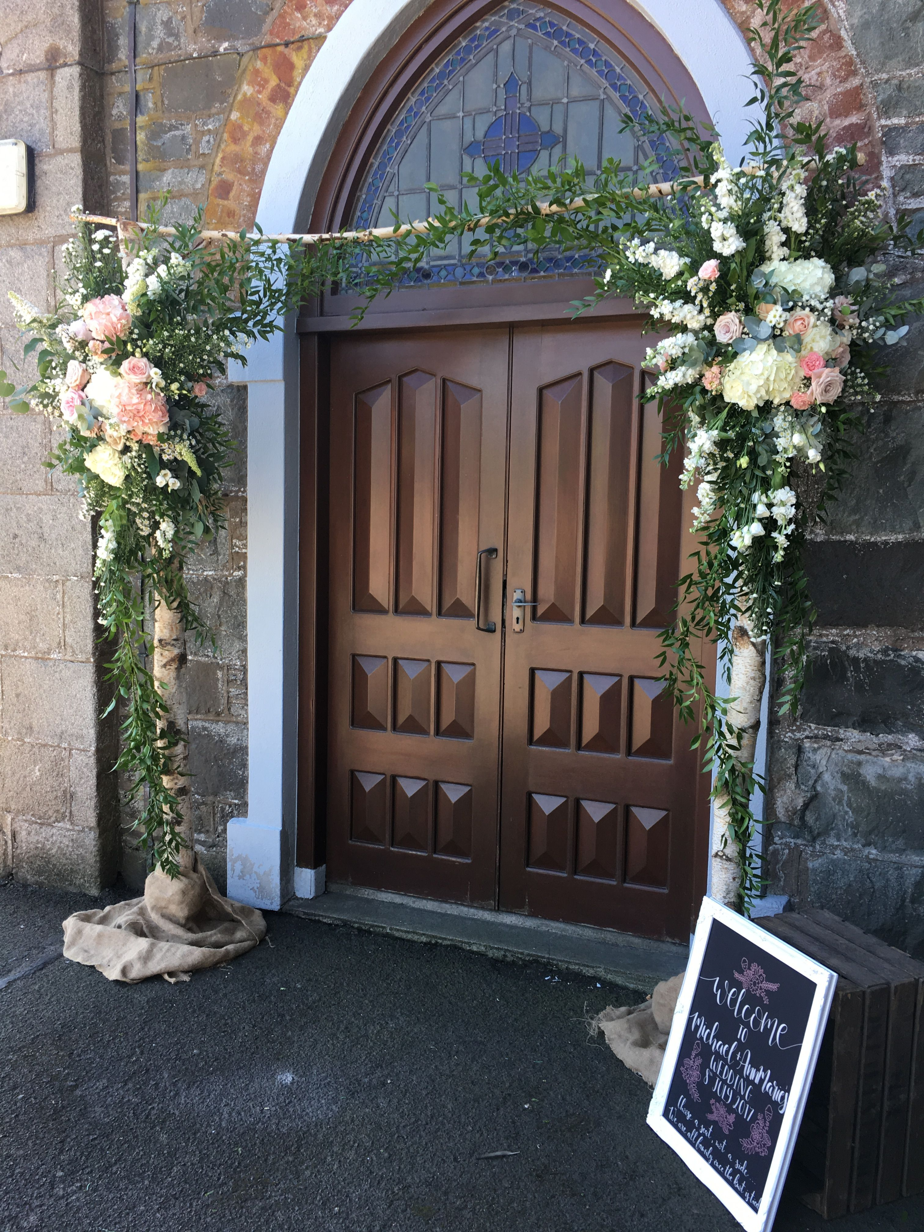 Posy Barn Flower Arch Outside Church Church Entrance Decorations