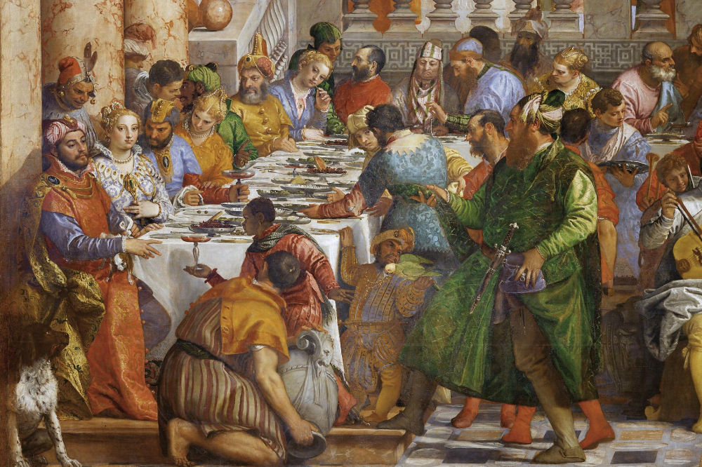 Detail Aus Die Hochzeit Zu Kana Des Italienischen Malers Paolo Caliari Genannt Veronese Das Dieser Kunstproduktion Italienische Renaissance Die Renaissance