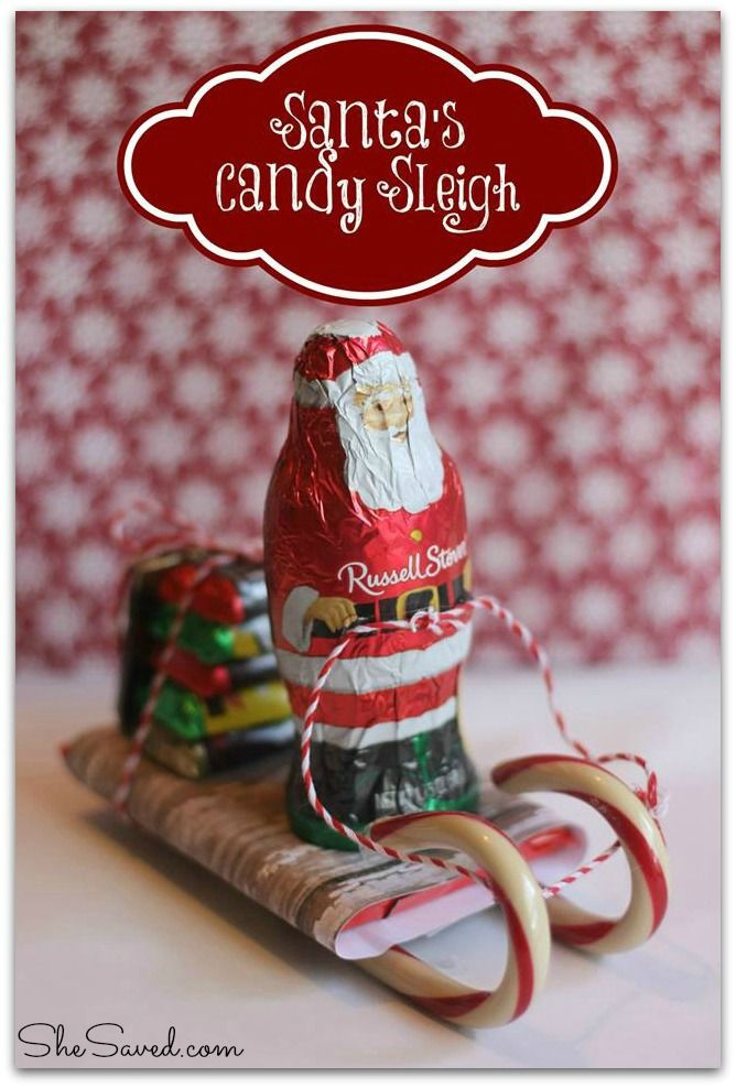 santa candy sleigh christmas craft - Christmas Candy Crafts