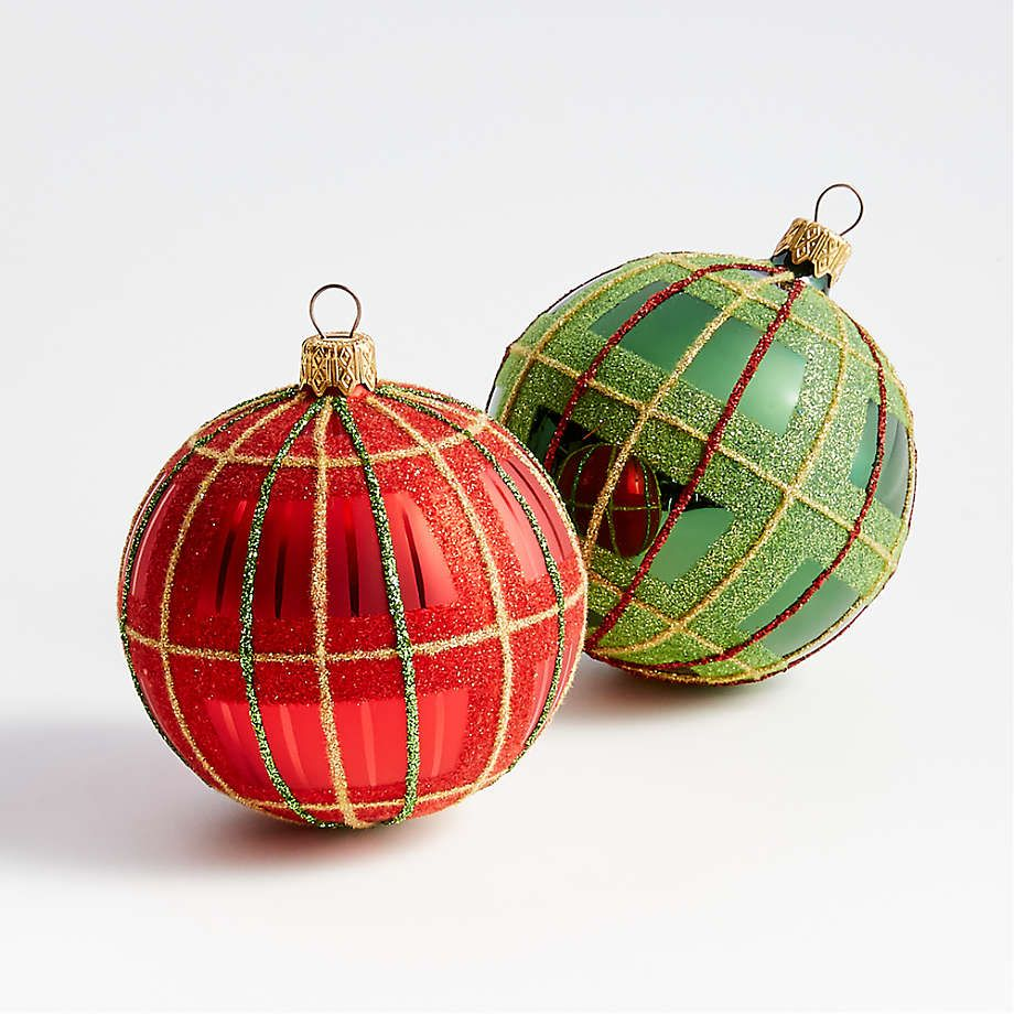 Viewing Product Image Glitter Plaid Ball Ornaments Pretty Christmas Ornaments Christmas Ornaments How To Make Ornaments