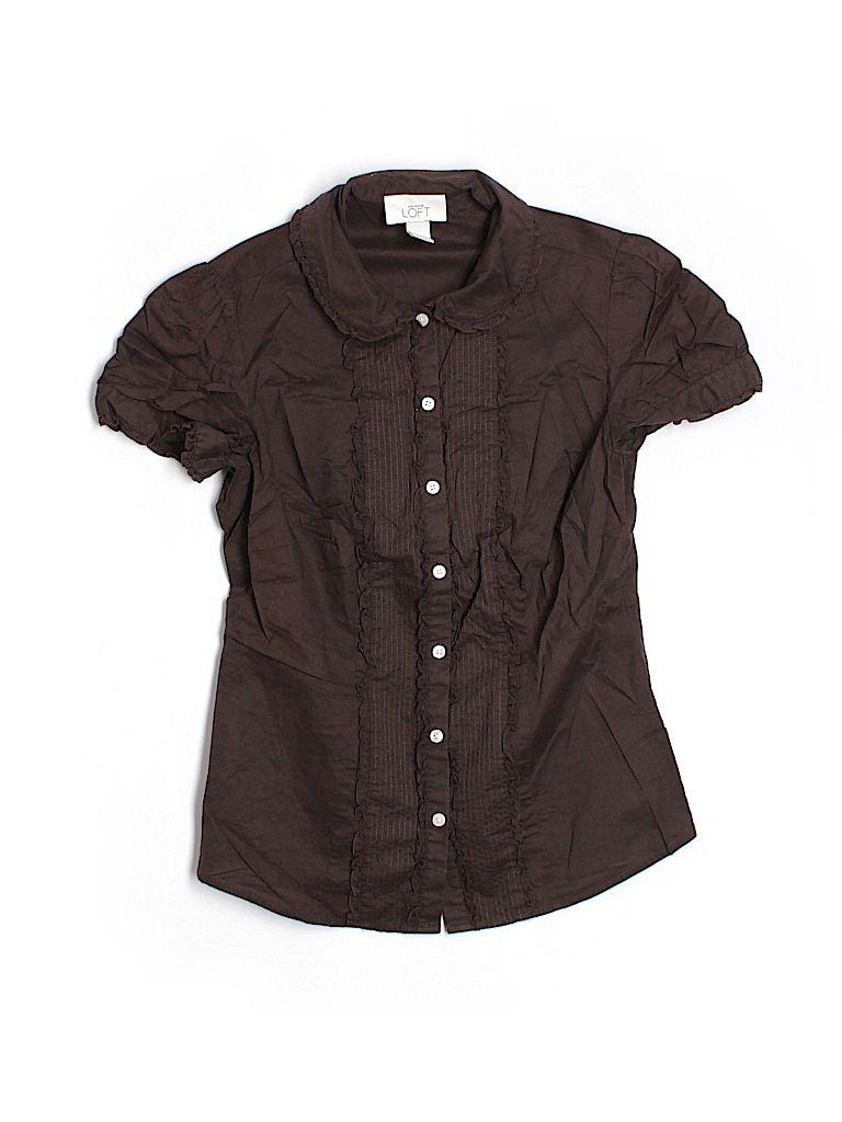 Ann Taylor Loft Short Sleeve Button Down Shirt for $9.99 on thredUP!