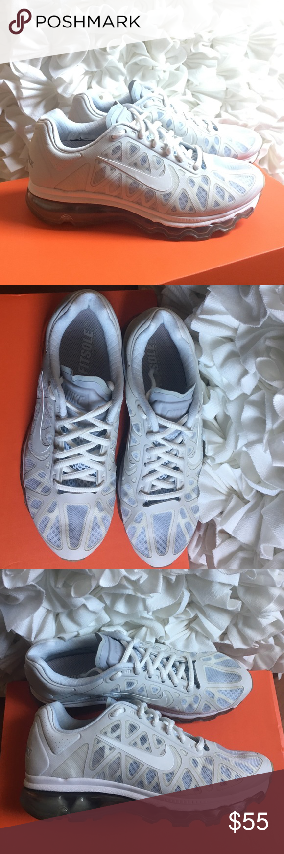 Nike Airmax White And Gray Nike Airmax Fitsole 2 Fit Cushioning