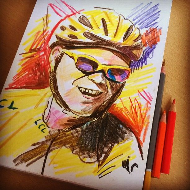 Chris Froome - Two time Tour de France Champion #art #illustration #drawing