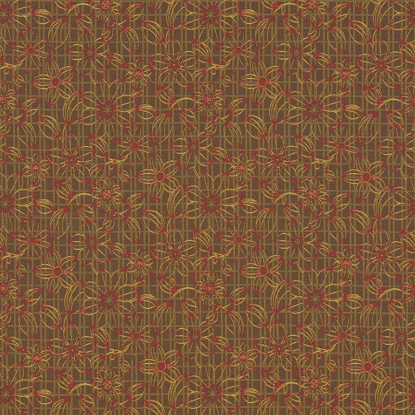 Blueprint floral nutmeg brown and red esi leaves woven upholstery blueprint floral nutmeg brown and red esi leaves woven upholstery fabric malvernweather Image collections