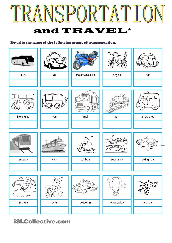 Transportation & Travel Vocabulary   travelling   Pinterest ...