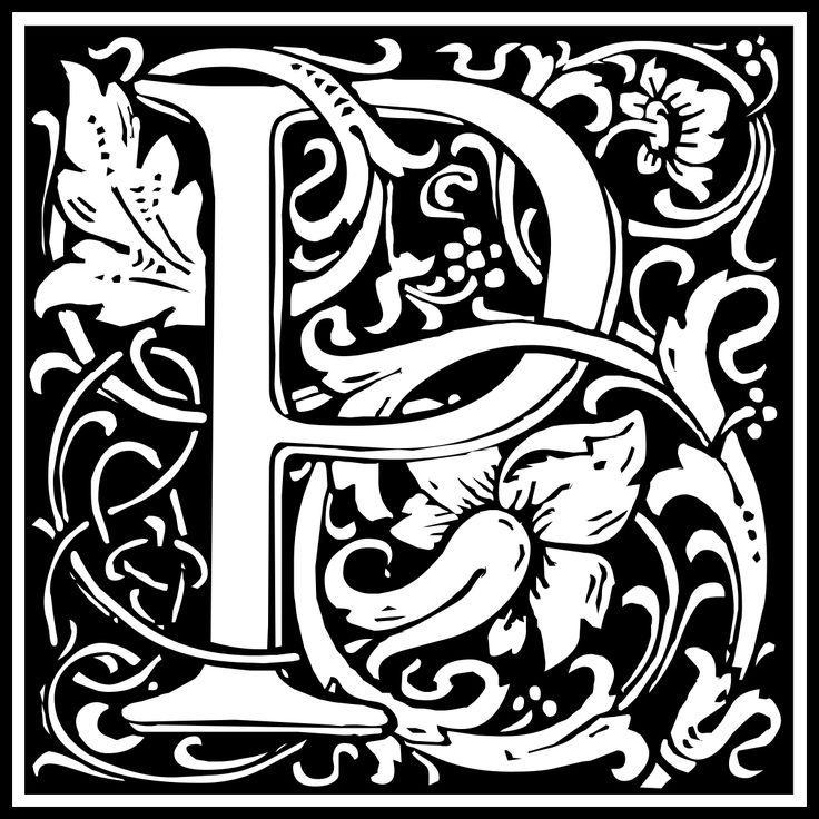 William Morris Letter P Clipart Png Png Image 1200 1200 Pixels Lettering Alphabet William Morris Designs William Morris