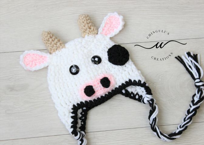 Cow Hat – Free Crochet Pattern | Free crochet pattrens | Pinterest ...