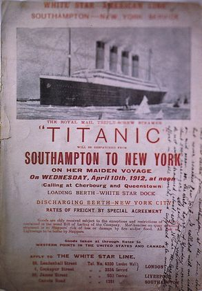 A ticket for the maiden voyage of Titanic.