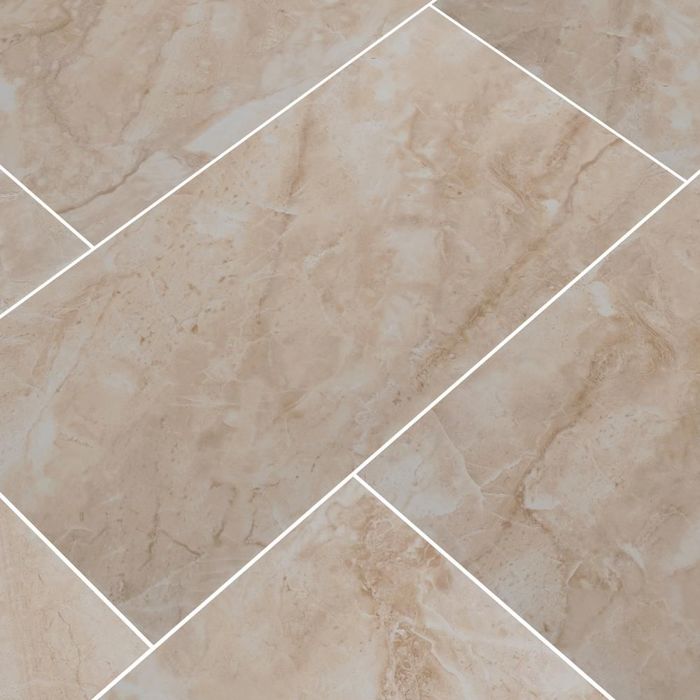 Msi Cancun Beige 12 In X 24 In Matte Ceramic Floor And Wall Tile 16 Sq Ft Case Nhdcanbei1224 The Home Depo In 2020 Ceramic Floor Floor And Wall Tile Flooring