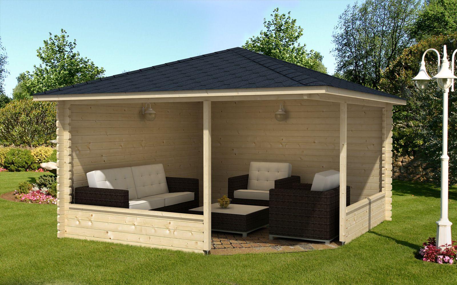 5Eck Gartenlaube Maik40 Kleiner hinterhof terrasse