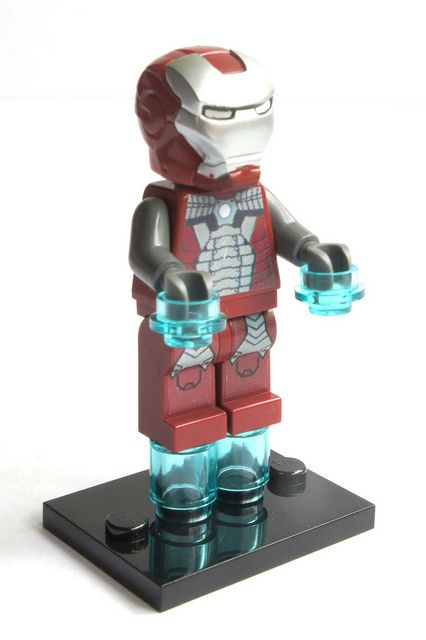 LEGO AVENGERS IRON MAN TONY STARK MINIFIGURE MADE OF GENUINE LEGO PARTS