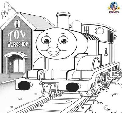 Sodor steam train Thomas and the toy workshop printable coloring