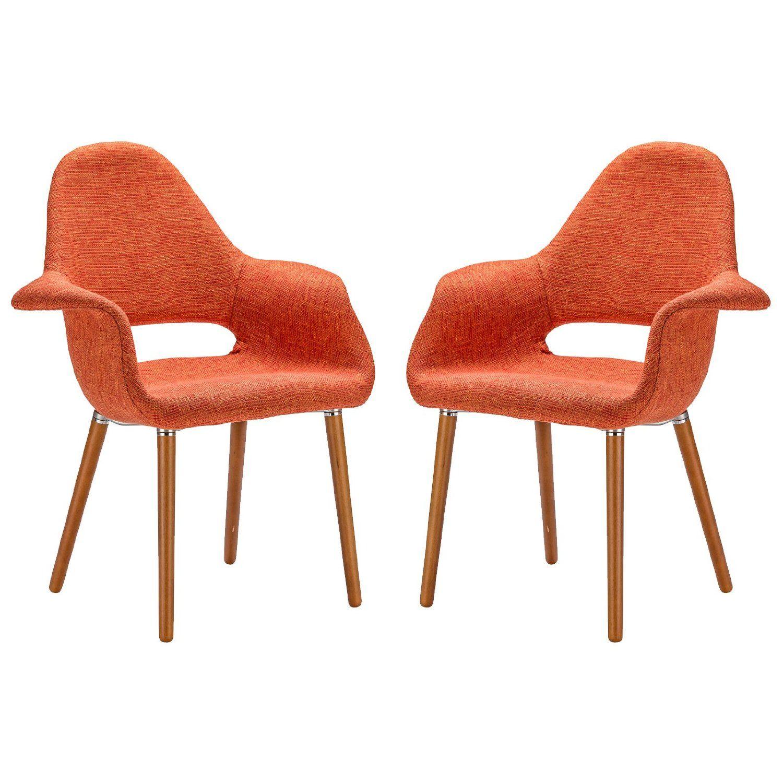 Wonderful Amazon.com: Poly And Bark Organic Arm Chair, Orange, Set Of 2