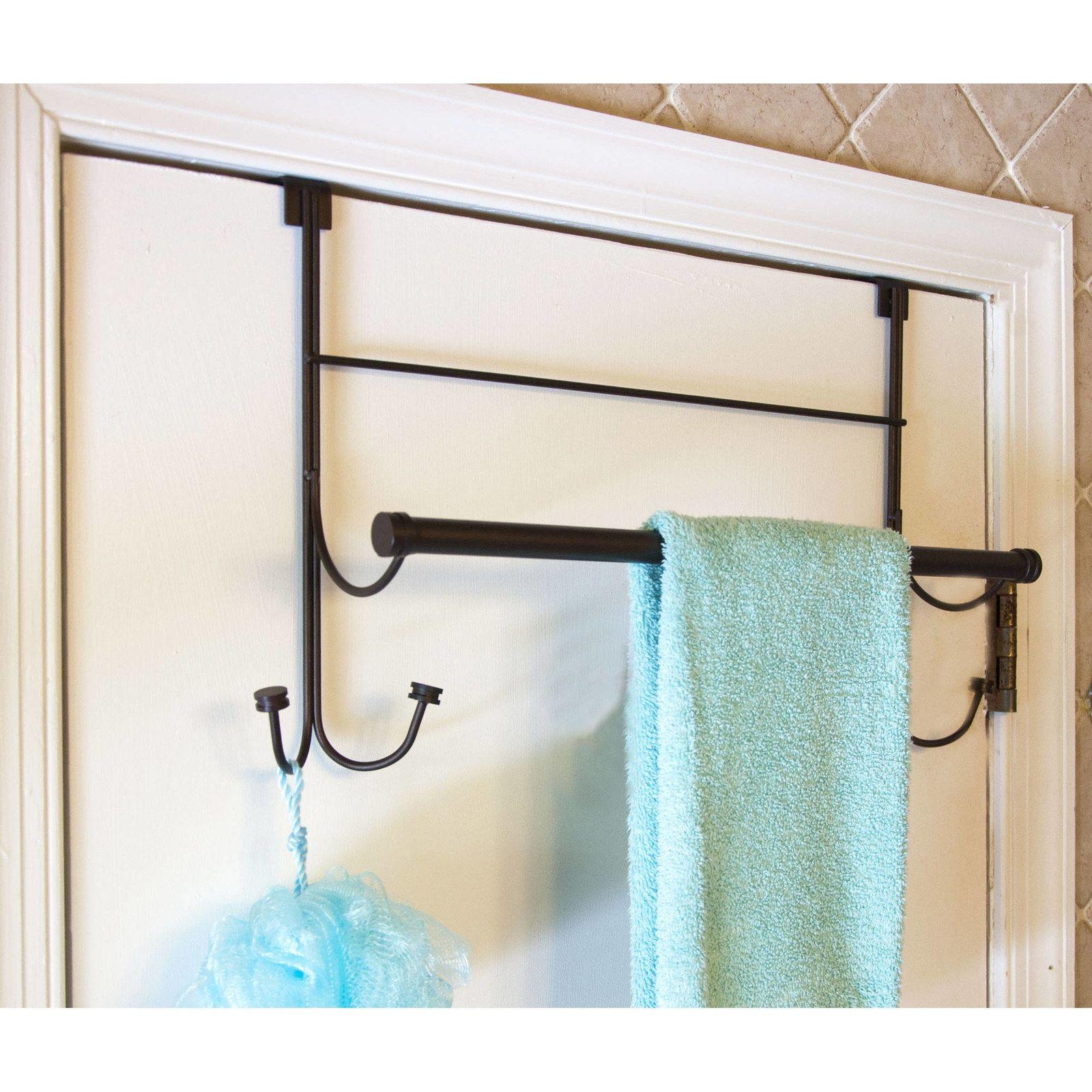 24 Tips That Will Make Dorm Living Much Easier Towel Rack Over The Door Hanger Towel Hooks
