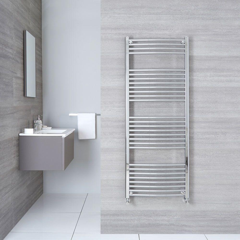 Etna Hydronic Chrome Heated Towel Warmer 59 X 23 5 Towel Warmer Heated Towel Heated Towel Warmer