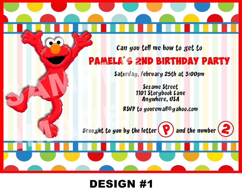 elmo invitations Google Search Elmo Pinterest Elmo Elmo