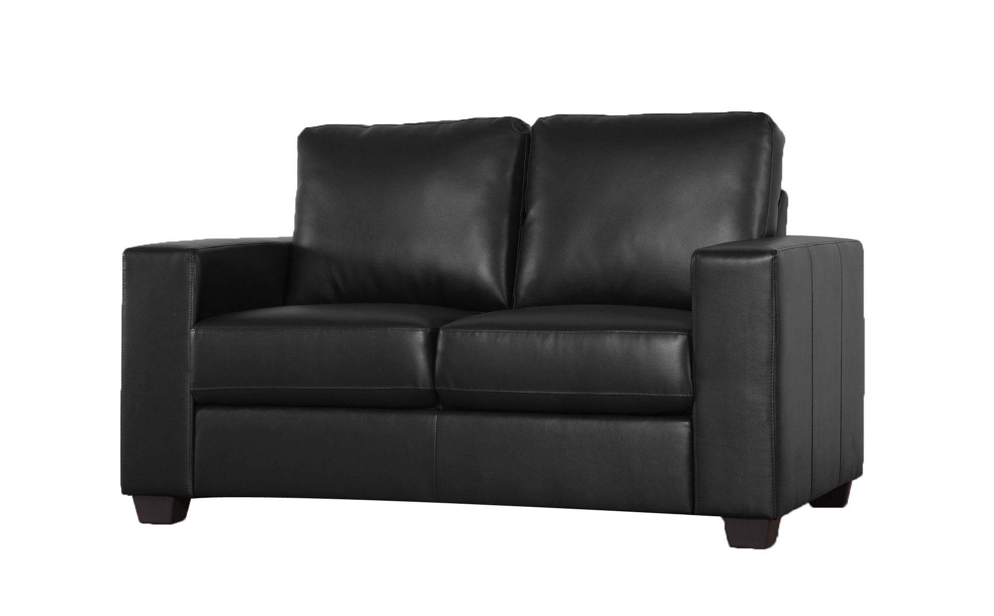 Mission Black 2 Seater Leather Sofa Range £270 | Leather ...