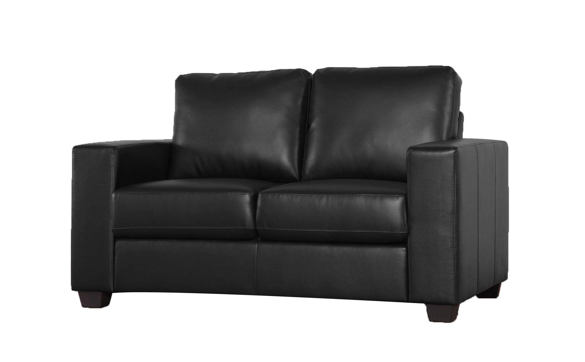 Mission Black 2 Seater Leather Sofa Range 270