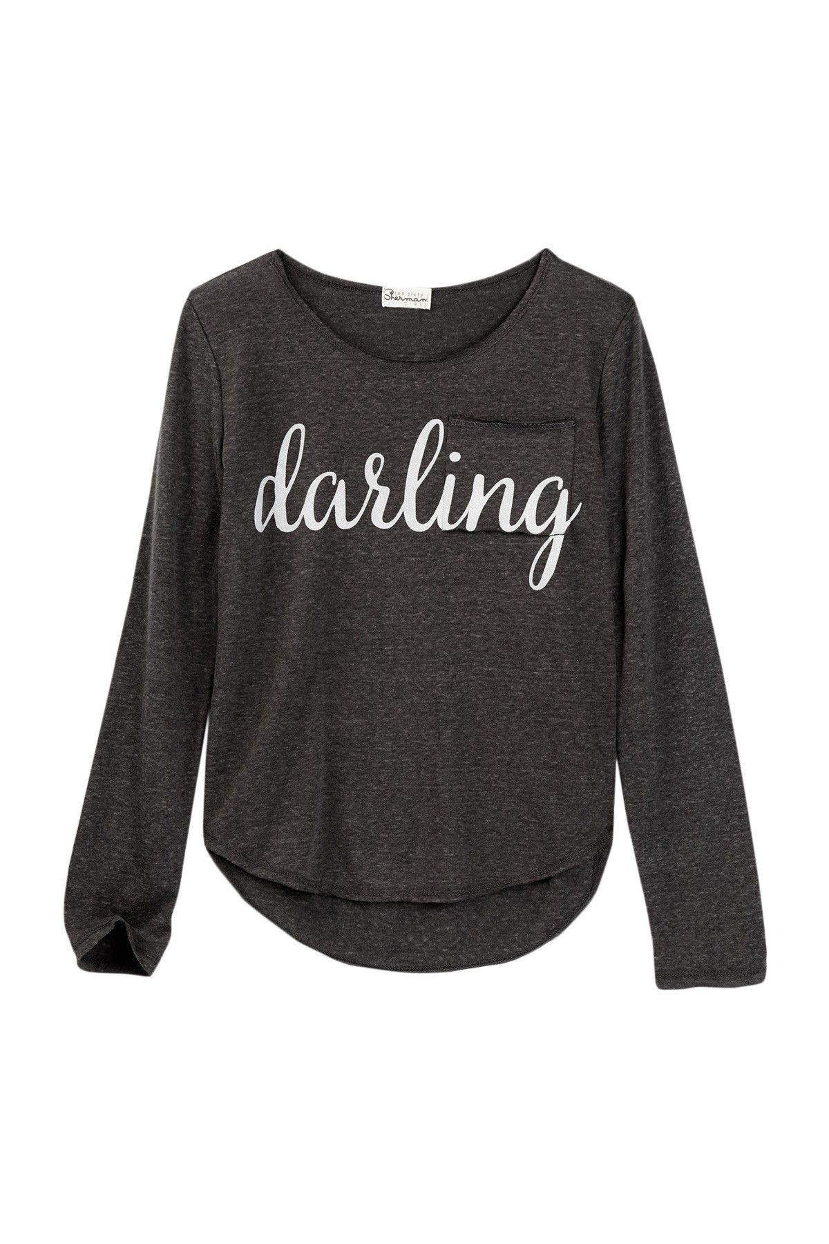 Darling Long Sleeve Pocket Tee (Big Girls) | Pinterest | Nordstrom ...