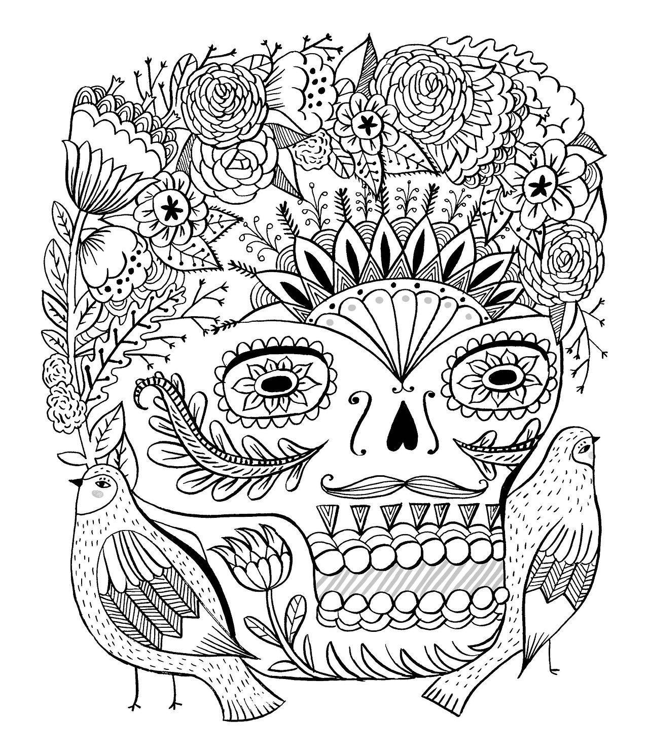 day of the dead/just add color coloringbook by sarah walsh Tumblr ...
