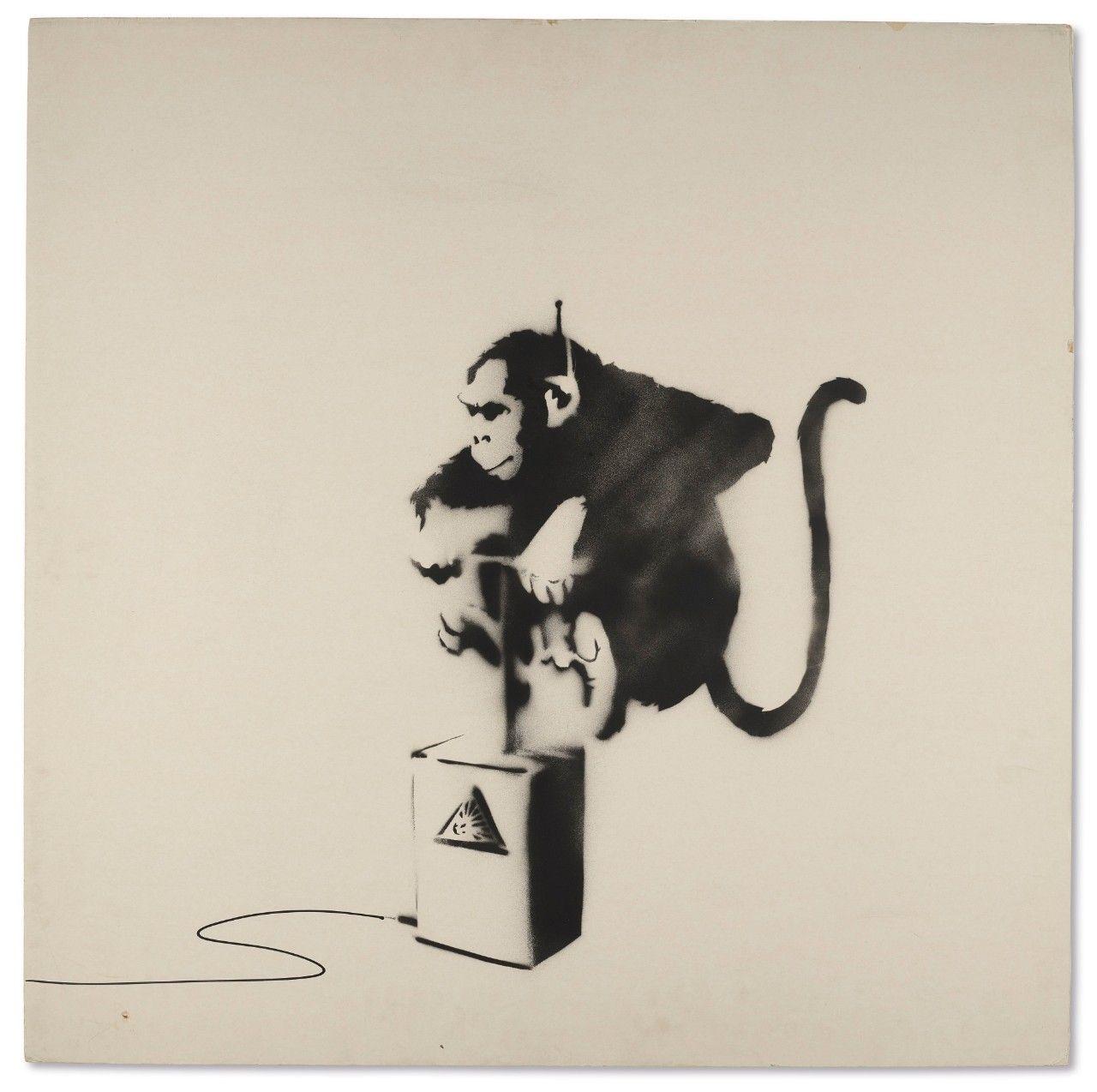 Banksy 2018 Auction Results. Banksy Monkey Detonator