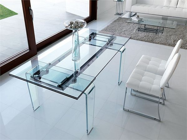 Awesome Ghost Rectangular Dining Crystal Table