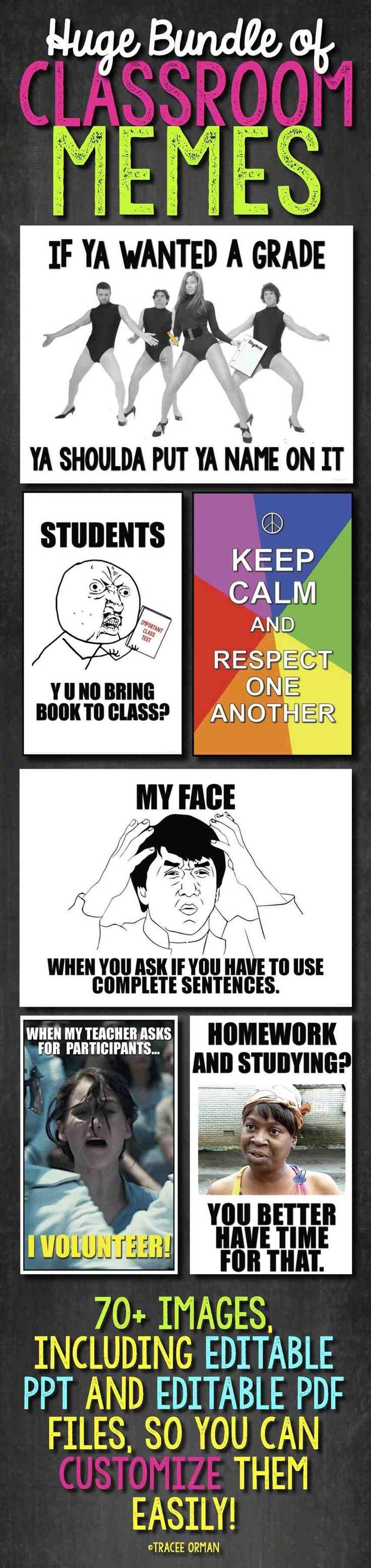 Teacher Memes Posters Editable Back To School Class Rules Classroom Memes School Classroom Teacher Humor