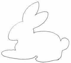 paaskonijn kleurplaat simpele tekening zoeken