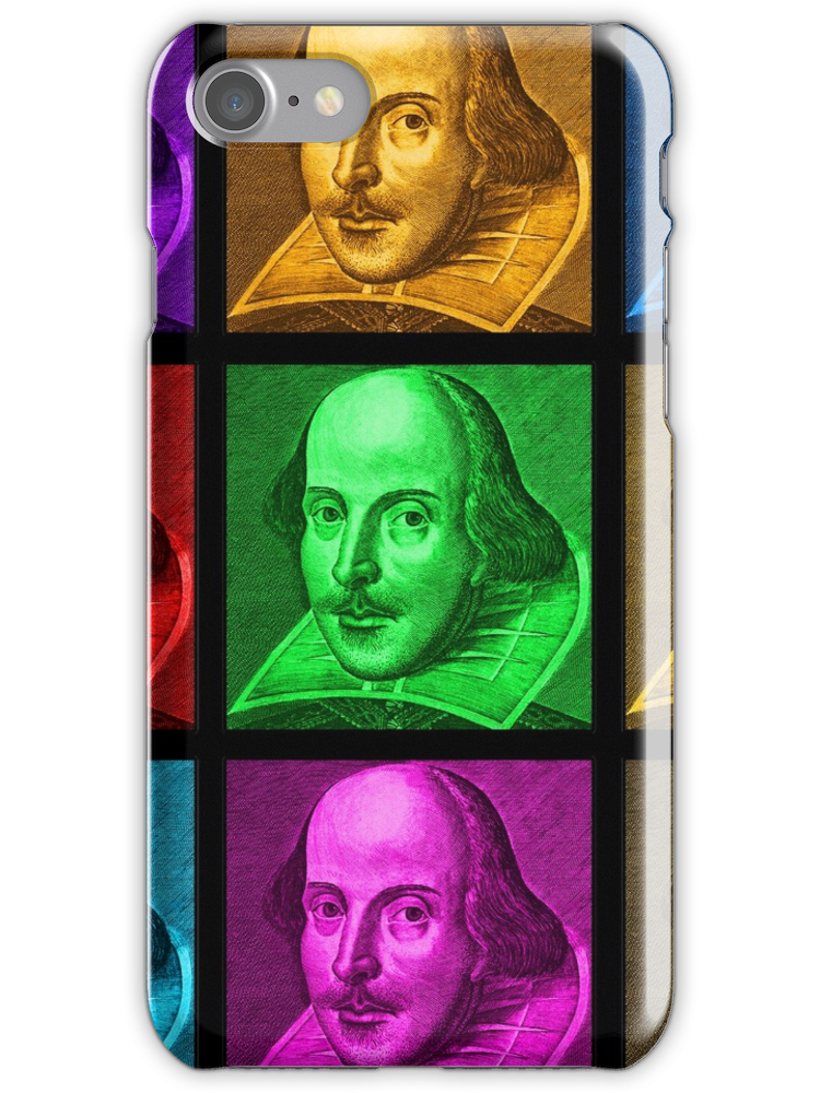 William Shakespeare Pop Art iphone case