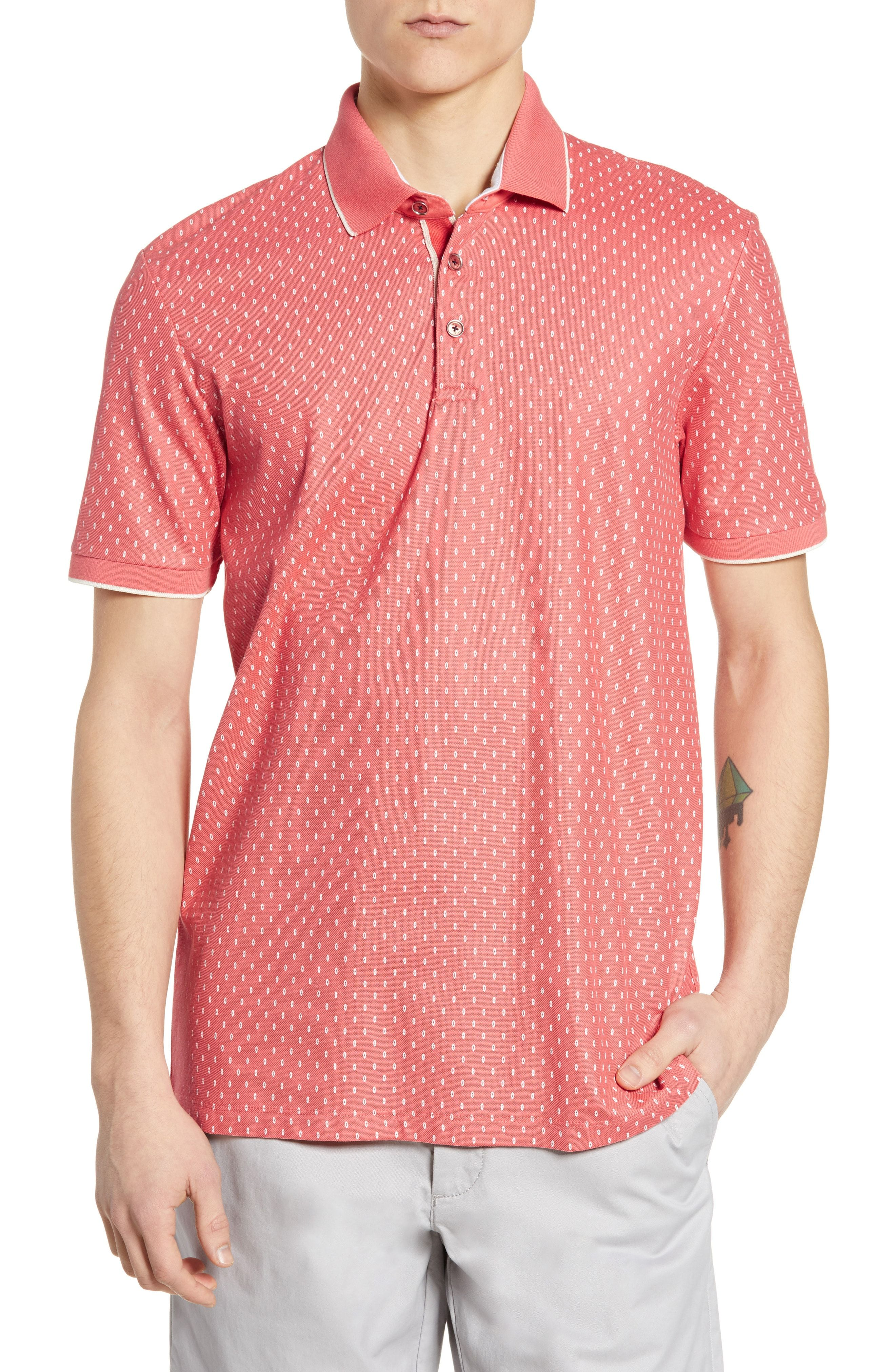 5c1f839e3 TED BAKER TOFF SLIM FIT PRINT PIQUE POLO.  tedbaker  cloth