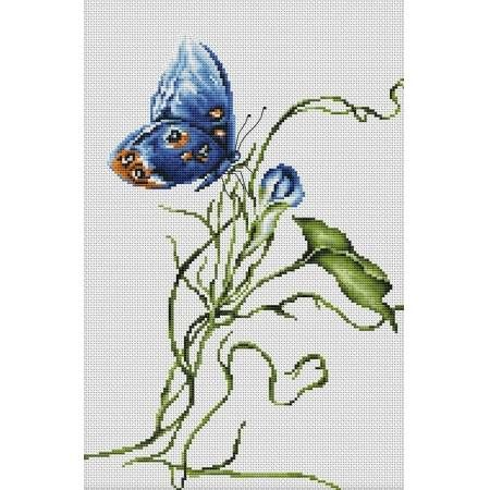 This is an excellent cross stitch kit for any avid Aurelian, from the speckled dots on the butterfly's wings to the twirl of the plant root. Heavily artistic and a stunning expression of nature, we r