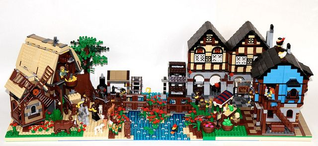 mill & market village | Lego Waterwheel | Pinterest | Milling, Legos ...