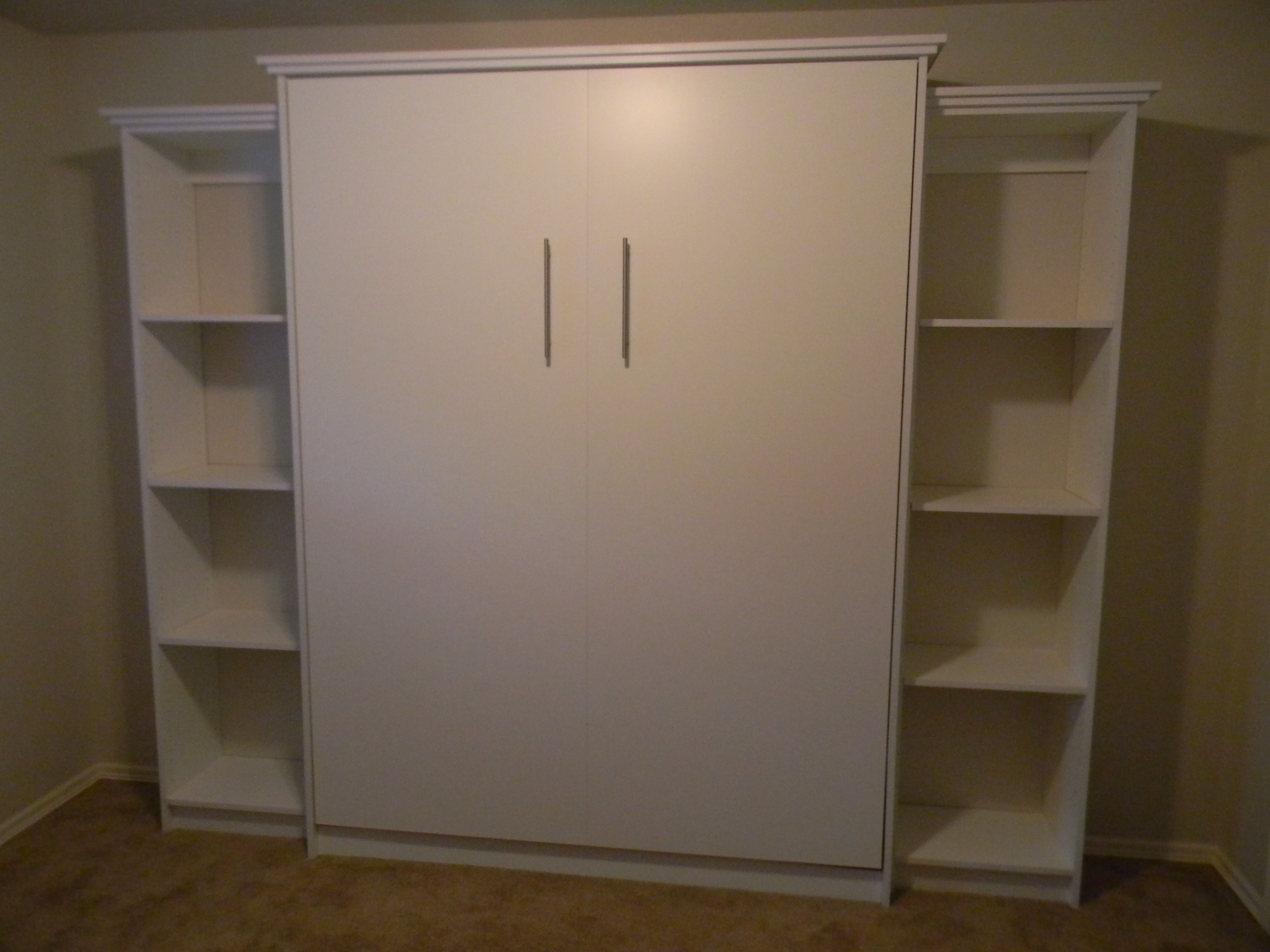 Manhattan Collection murphy bed with side cabinets! By Murphy