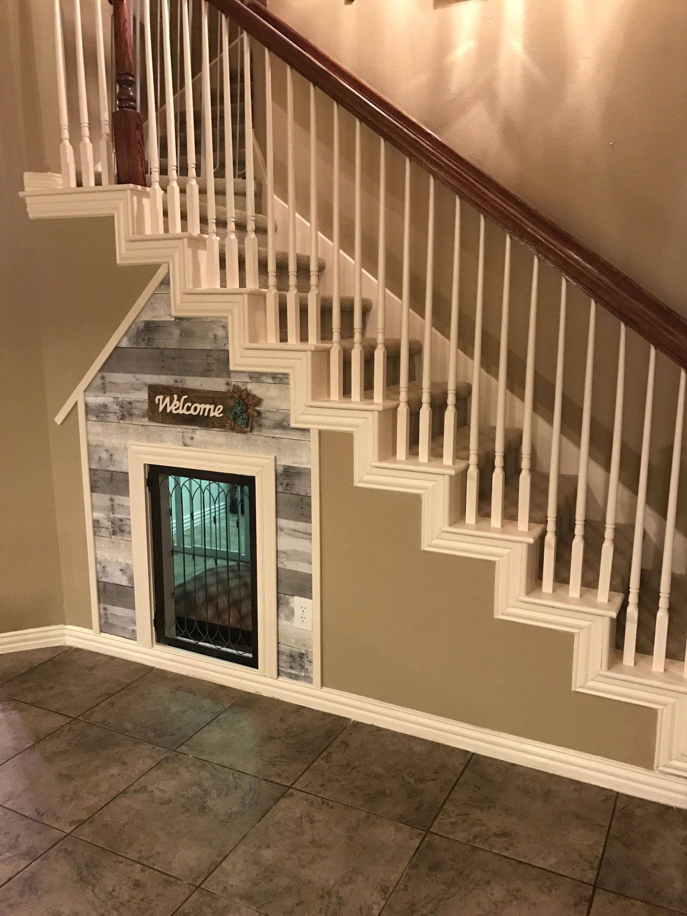 Dog Room Stairs Dogroomstairs Under Stairs Dog House Dog House