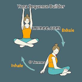seated side arm sweep neck twist pose flow yoga  yoga