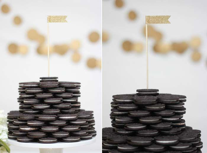 Faça você mesmo: Torre de biscoitos | http://www.blogdocasamento.com.br
