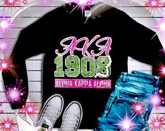 AKA Paraphernalia, AKA Jersey, Customized Alpha Kappa Alpha, Fitted Glitter Jersey