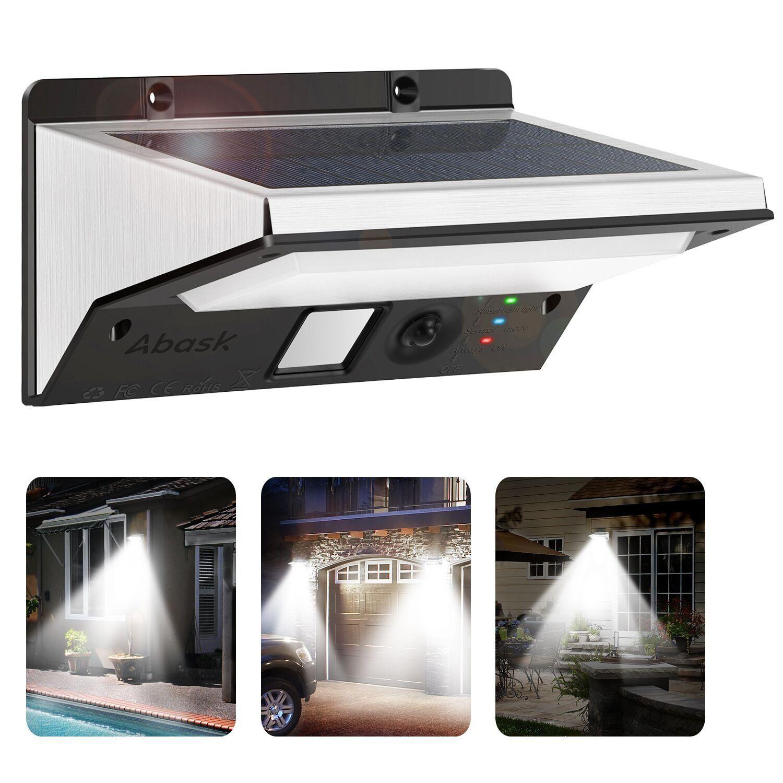 Luci Solari Lampada Abask Wireless Ad Energia Solare Da Esterno Con