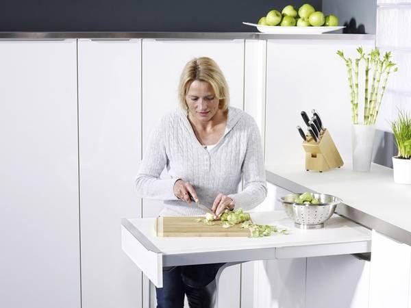 Zusätzliche Arbeitsfläche zum Ausziehen Bei Bedarf kann der - kleine küche gebraucht