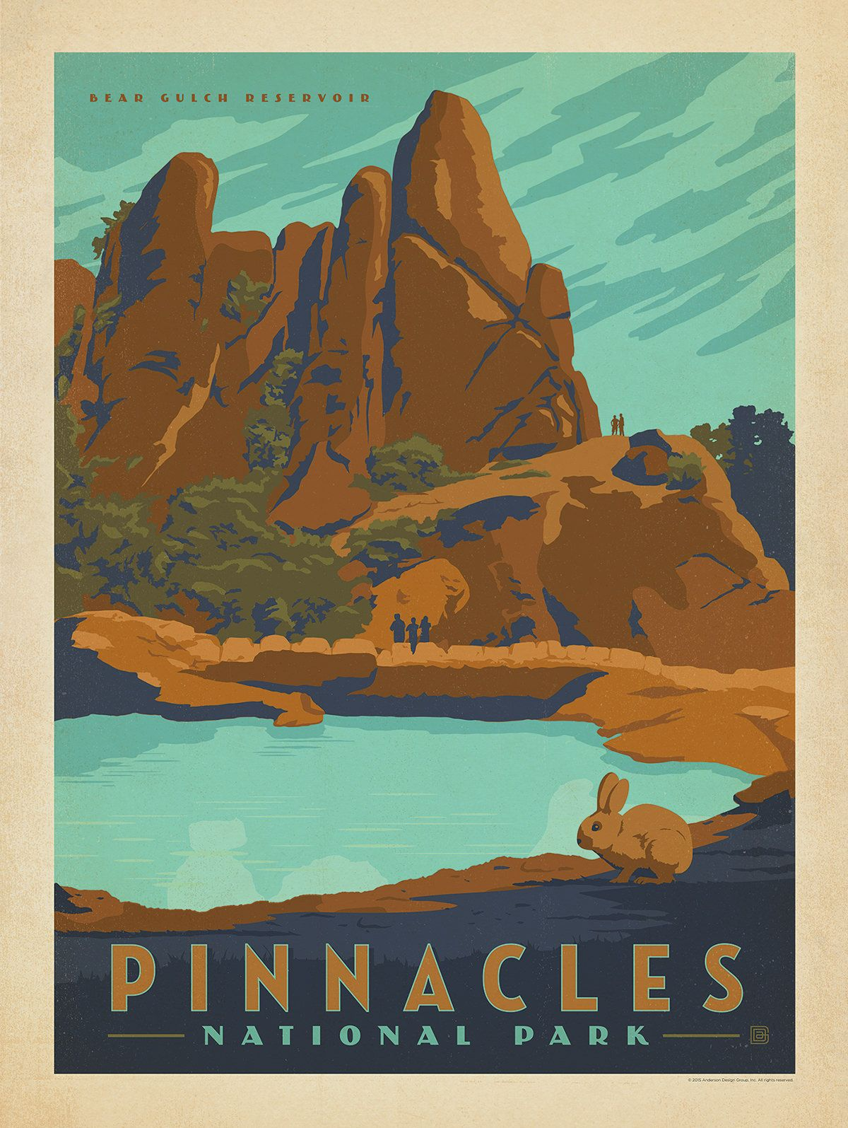 American National Parks National Park Posters American National Parks Pinnacles National Park