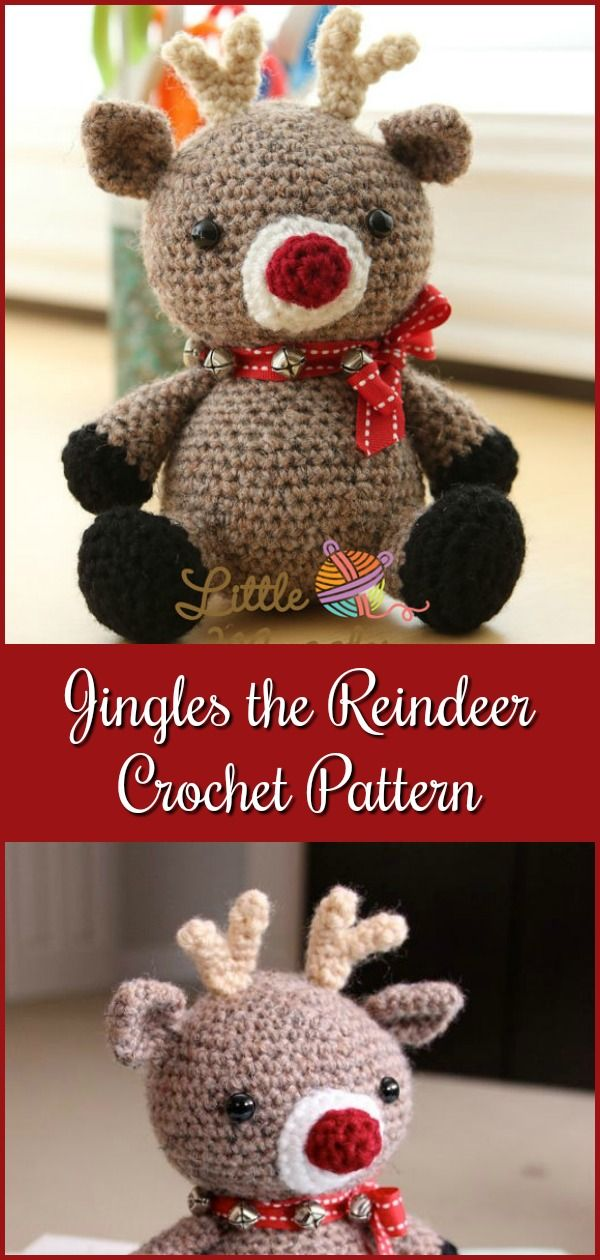 Amigurumi Crochet Pattern - Jingles the Reindeer   Pinterest ...